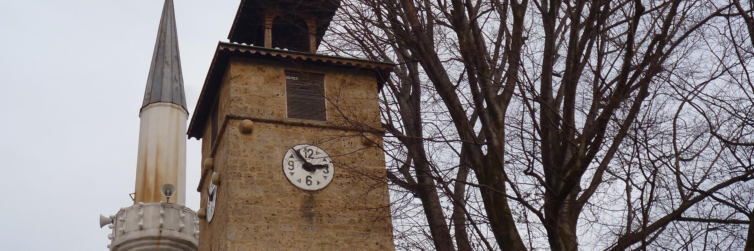 Часовая башня в Горней чаршии в Травнике
