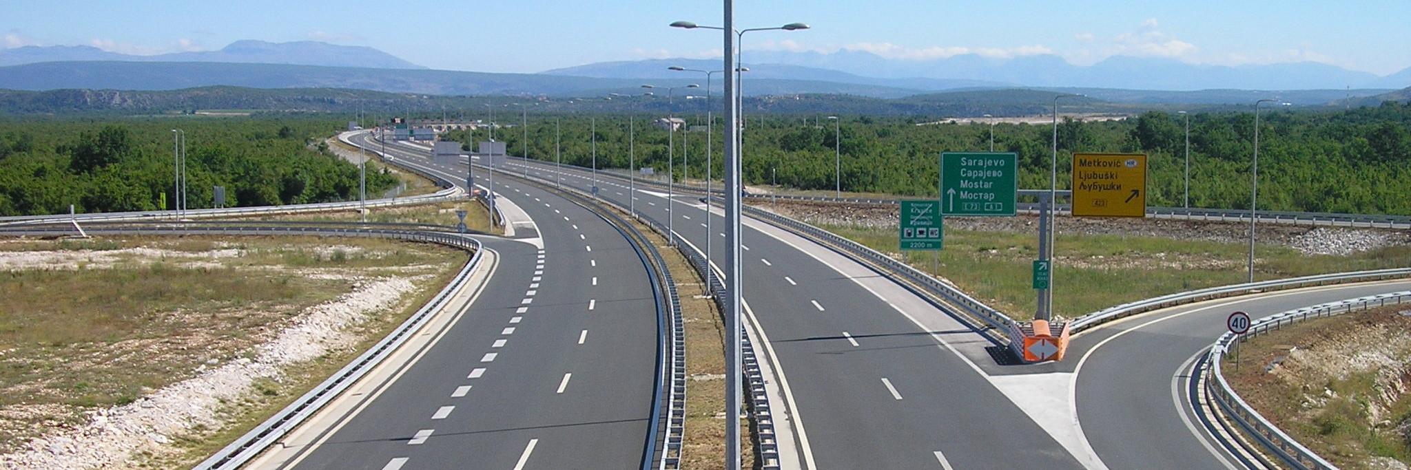 Дороги в Боснии и Герцеговине. Фото: Ma▀▄Ga, GNU 1.2.