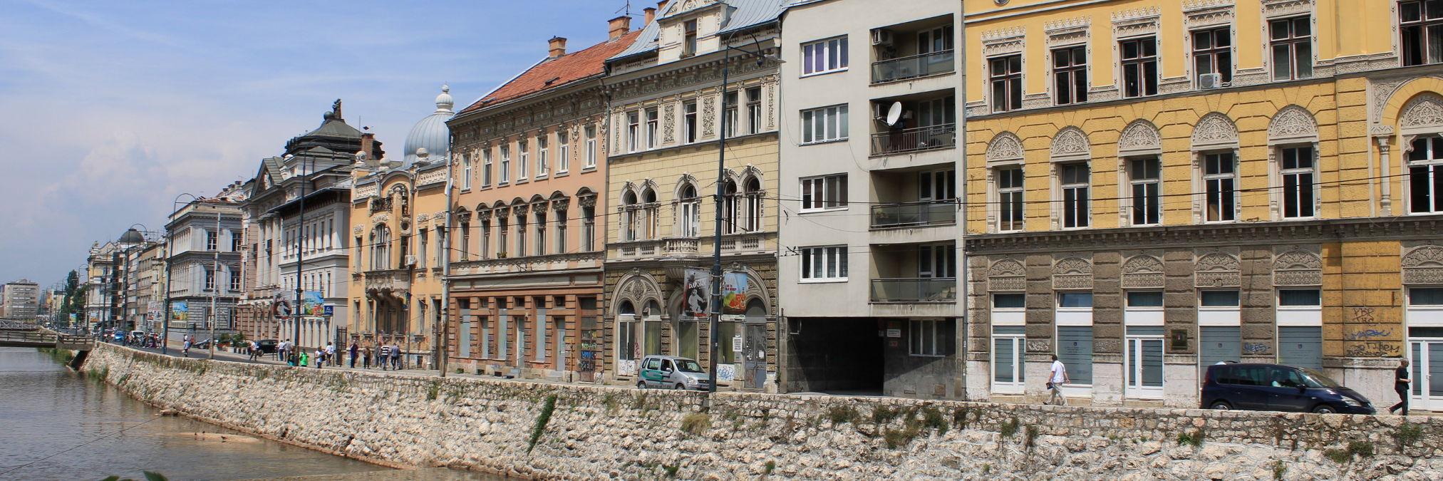 Архитектура Сараева австро-венгерского периода. Фото: Елена Арсениевич, CC BY-SA 3.0